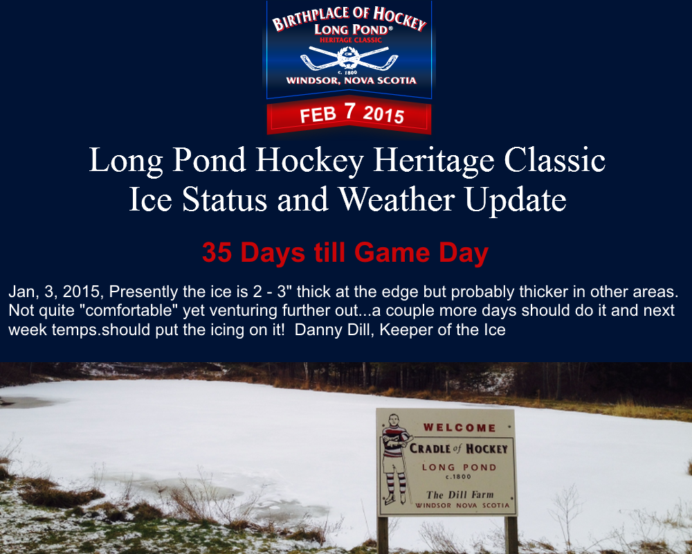 Jan 3 Ice Status and Weather Update LPHC 2015