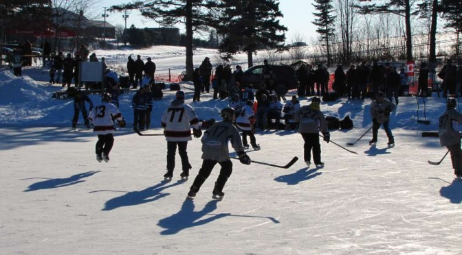 Hockey on Historic Long Pond