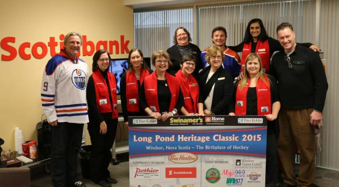 """""""Legends All-Stars Hockey Events"""" Players Visit Scotiabank"""