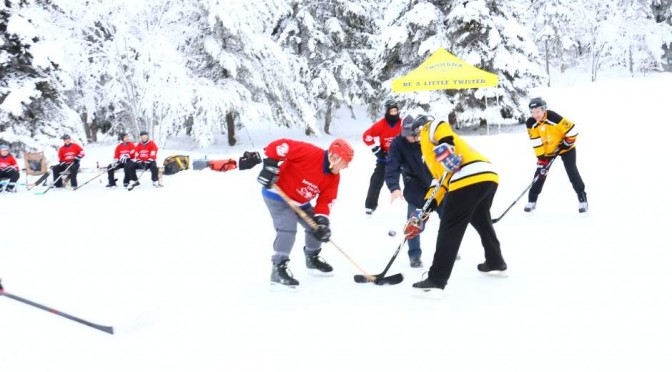 As the Puck Drops at the Long Pond Classic